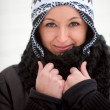 Winter woman - Stock Photo