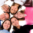 Happy friends together - diversity — Stock Photo