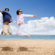 Couple having fun at the beach — Stock Photo #7753849