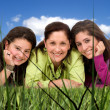 Happy Family portrait outdoors — Stock Photo