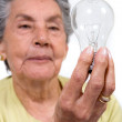 Stock Photo: Creative old lady