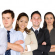 Confident business woman and her business team — Foto Stock