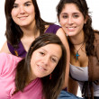 Beautiful happy and young female friends — Stock Photo