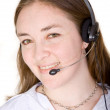 Female customer services representative — Stock Photo
