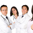 Friendly young doctors team — Stock Photo