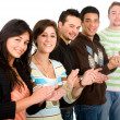 Group of casual young applauding - Stock Photo