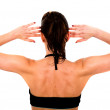 Beautiful fit female back — Stock Photo