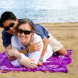Couple at the beach — Stock Photo #7753959