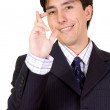 Business man with fingers crossed - Stock Photo