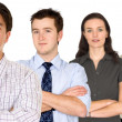 Confident business man and his business team — Stock Photo #7753992