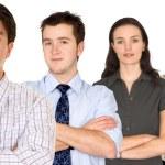 zuversichtlich Geschäftsmann und seine Business-team — Stockfoto