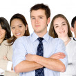 Confident business man and his business team — Stock Photo #7754011