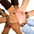 Hands of cooperation — Stock Photo #7754015