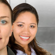 Asian-european female partnership — Stock Photo #7754022