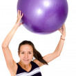 Girl doing a fitness workout — Stock Photo