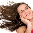 Music for your ears - happy girl - Stockfoto