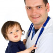 Royalty-Free Stock Photo: Male pediatrician and a baby girl