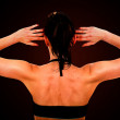 Stock Photo: Beautiful fit female back