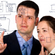 Royalty-Free Stock Photo: Business partners analyzing a database structure