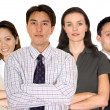 Stock Photo: Business partners and their diverse team