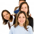 Group of young waiting in line — Stock Photo #7754072