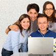 Casual group of students — Stockfoto