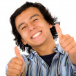 Happy guy with thumbs up — Stock Photo