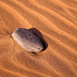Stone on the sand — Stock Photo