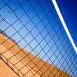 Beach volleyball net — Stock Photo #7754098