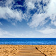 Route to happiness - beach path - Foto de Stock  