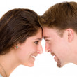 Stock Photo: Beautiful couple face to face