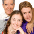 Caucasian family portrait — Stock Photo
