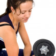 Stock Photo: Girl doing freeweights