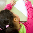 Stock Photo: Girl in primary school doing test