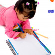 Girl doing her homework — Stock Photo #7754364