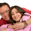 Beautiful happy couple smiling — Stock Photo #7754377