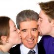 Stock Photo: We love you dad - fathers day image