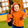 Boy having fun outdoors — Stock Photo