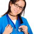 Stock Photo: Friendly female nurse