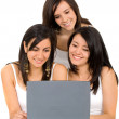 Stock Photo: Girls on laptop