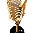 Stock Photo: vintage microphone in 3d