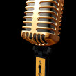 Vintage microphone in 3d — Foto de Stock