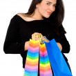 Beautiful girl with shopping bags — Stock Photo #7754495