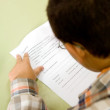 Boy in primary school education - Stock Photo