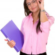 Confident business woman wearing glasses — Stock Photo