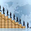 Business growth and success - financial graph — Stock Photo