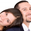 Business couple looking happy — Stock Photo