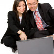 Royalty-Free Stock Photo: Business couple with laptop