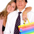 Business couple out shopping — Stock Photo #7754562