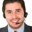 Stock Photo: Business customer support guy